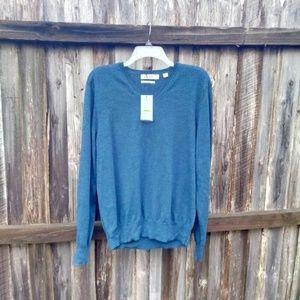 Men's Calvin Klein Blue Long Sleeve Sweater Medium